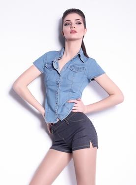 Imagen de Shorts Mini Jeans modelo 4